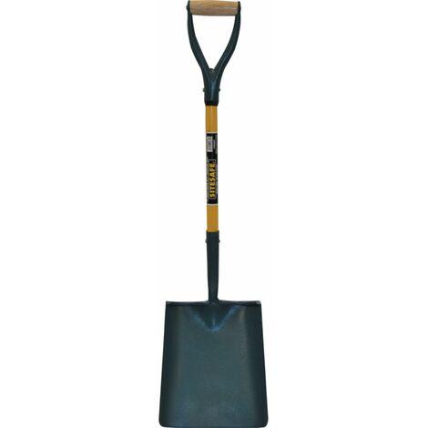 Sitesafe Solid Socket Fibreglass YD Square Mouth Shovel No2