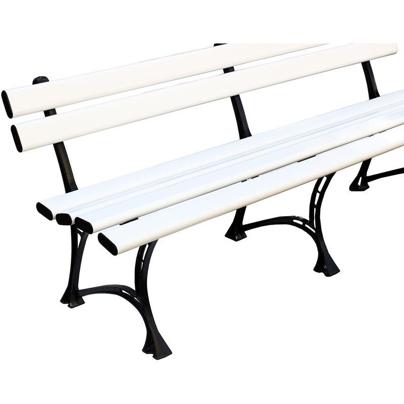 Sitzbank Kunststoff PVC Gartenbank Möbel Außenbereich 200x75x45 cm, HARMONY - HEXIM