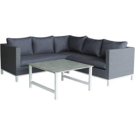 Sitzgarnitur Für Den Garten Aus Aluminium Turin Phoenix Grau