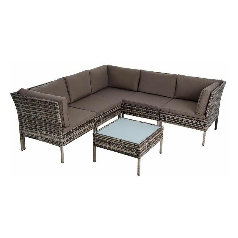 Sitzgruppe Rattan Gartenmöbel Polyrattan Set Garten-Lounge Gartenset Essgruppe