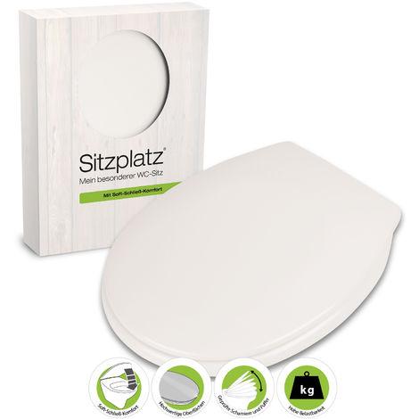 SITZPLATZ® WC-Sitz mit Absenkautomatik Smart-Duro in Weiß, antibakterieller Duroplast Toilettensitz, WC-Deckel, ovale Standard O-Form oval, Komfort Klobrille & Klodeckel, Toilettendeckel, 40305 4