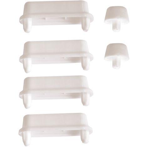 SITZPLATZ® WC-Sitz-Puffer Nr. 10, Auflagestopfen für Toilettensitz, Abstandhalter für WC-Brille, Dämpfer, Ersatzteil für Toilettendeckel, Weiß, Kunststoff