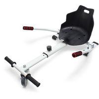 Sitzscooter in Weiß, verstellbarer Kartsitz für Elektroscooter bis 120 kg