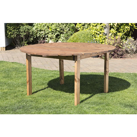 Six Seater Round Table, fully assembled garden furniture