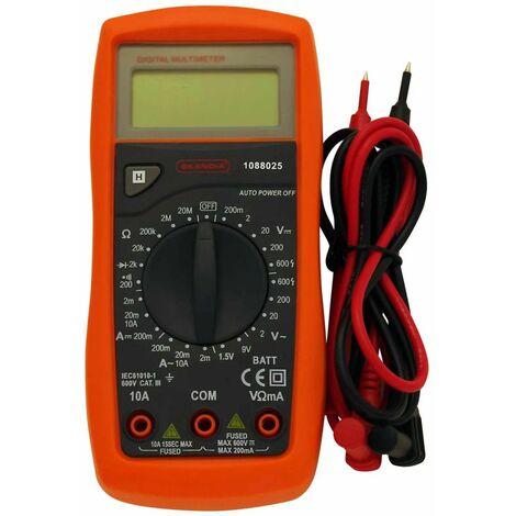 Skandia Multimètre numérique 600 V 10 A 1088025