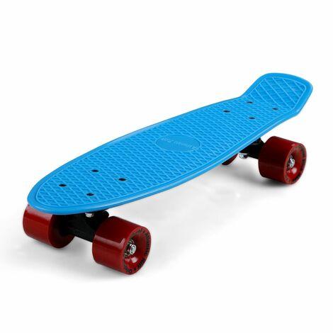 """Skateboard 22"""" planche à roulettes roues ABEC 7 style rétro vintage au choix"""