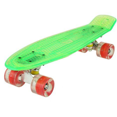 Skateboard cristalline 22'' LED illuminent roues