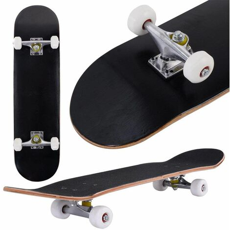 Skateboard Mini Cruiser Completa Longboard in Legno di Acero, Colori a Scelta, 79 x 20 cm