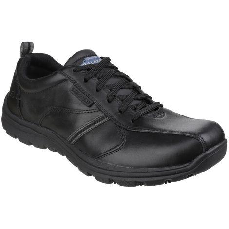 Skechers Occupational Mens Hobber Frat Slip Resistant Lace Up Work Shoes