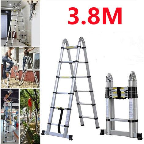 Skecten® Échelle Multifonction, Escabeau, 3,8 mètre(s), Barre stabilisatrice, EN 131, Standards/Certifications: EN131