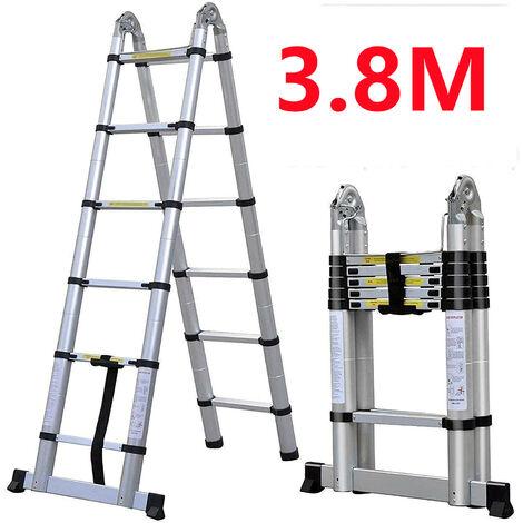 Skecten Escabeau, Échelle Multifonction, 3,8 mètre(s), Barre stabilisatrice, EN 131, Standards/Certifications: EN131