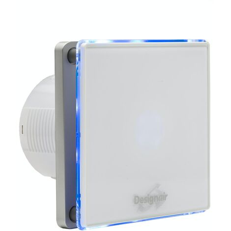 SKGL04-01 W LED WHITE GLASS BATHROOM FAN