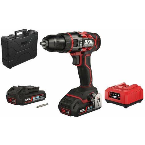 SKIL CD1E 3070HA Taladro percutor bateria «Brushless» 20v con 2 baterias 2,5Ah