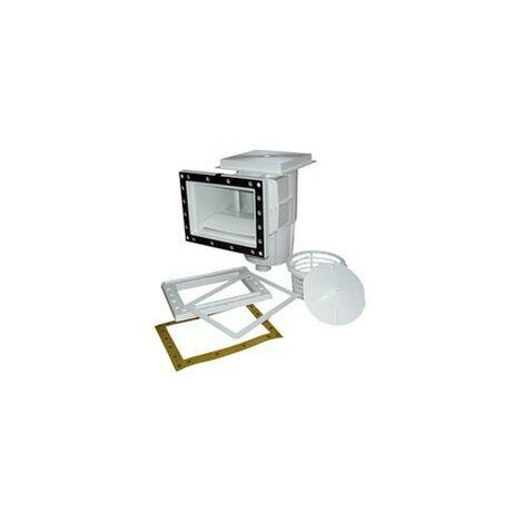 Skimmer 15 L con boca standard con tapa cuadrada sSuministrados con juntas adhesivas, bridas y tornillos)