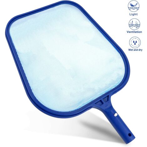 Skimmer de piscina profesional, redes de piscina / redes de hojas - Malla fina - Marcos resistentes - Accesorios de piscina para spas, piscinas, jacuzzis, fuentes - para limpieza de piscinas