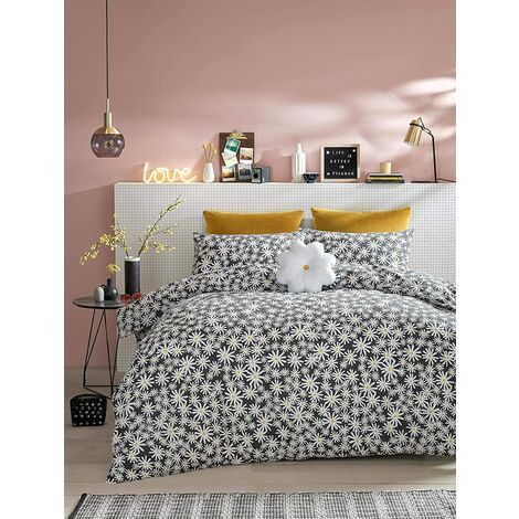 Skinny Dip Duvet Cover Sets, Daisy Charcoal, Bed Quilt Sets