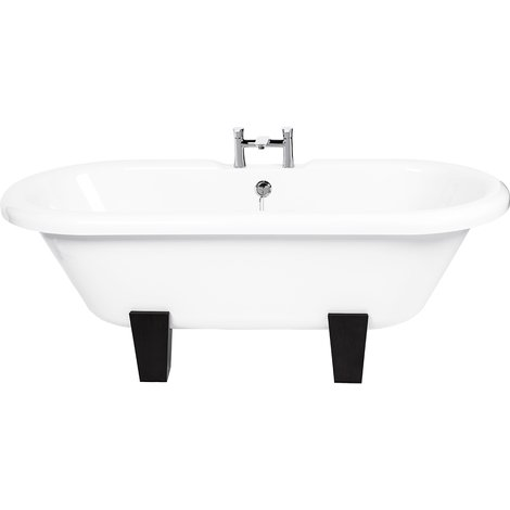 Skipton Freestanding Double Ended Bath with Wenge Feet