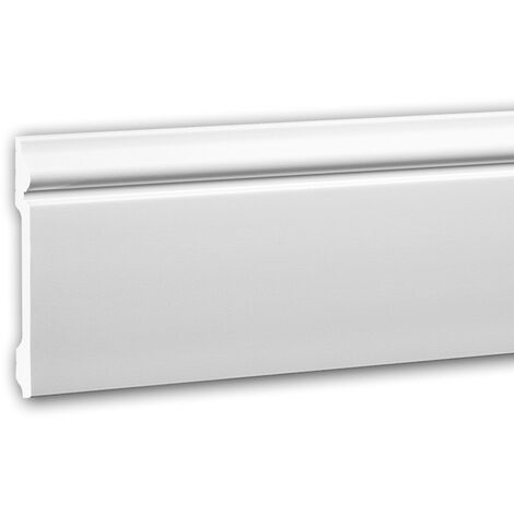"""main image of """"Skirting 653108 Profhome Base Moulding Baseboard Decorative Moulding Skirting Board Neo-Classicism style white 2 m"""""""