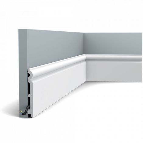 Skirting Orac Decor SX138F AXXENT Flexible moulding decorative moulding modern look white 2m