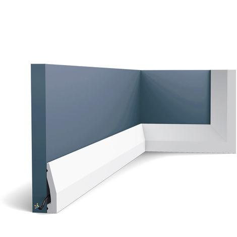 Skirting Orac Decor SX159 AXXENT baseboard moulding panel moulding decorative moulding contemporary design white 2 m