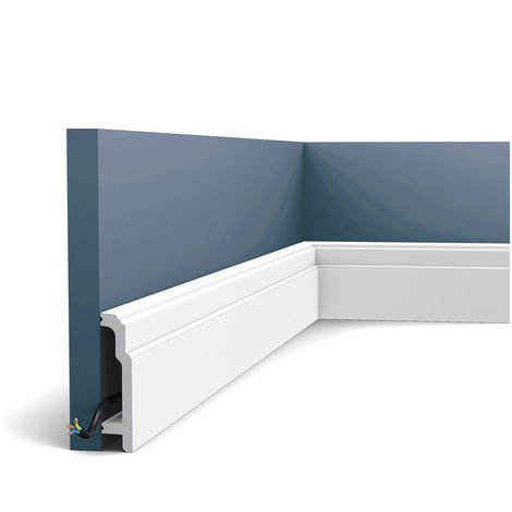 Skirting Panel Moulding Orac Decor SX155 LUXXUS Cable protection impact resistant 2 m