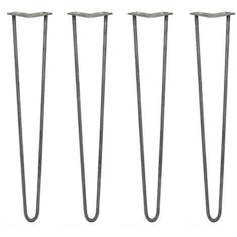 SKISKI LEGS - 4 Patas de Horquilla para Mesa SkiSki Legs 71cm Acero Rústico 2 Dientes 12mm
