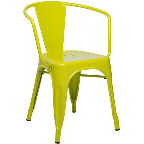 SKLUM Chaise avec accoudoirs LIXSalle à Manger Cuisine Style Industriel