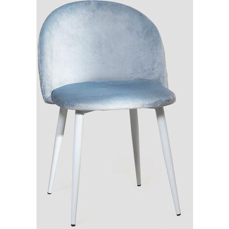 SKLUM Chaise de salle à manger en velours Kana Colors
