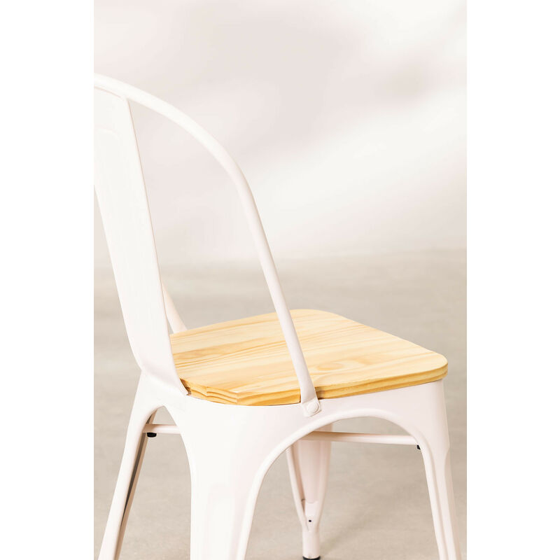 SKLUM Chaise LIX Mate BoisSalle à Manger Cuisine Style Industriel
