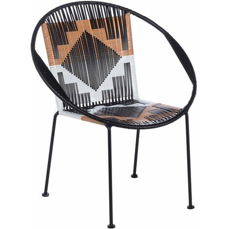 SKLUM - Chaise Ranh Noir Polyéthylène - Noir