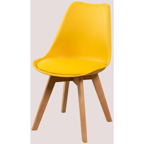 SKLUM Confezione da 4 sedie con cuscino rivestito in ...