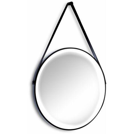 SKLUM Espejo Sunka Aluminio / Cristal Negro