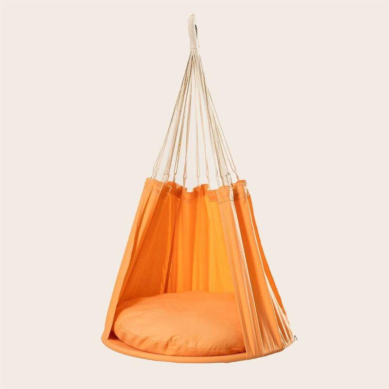 Hamac de jardin suspendu Baum SKLUM Polyester - Acier - Orange Abricot