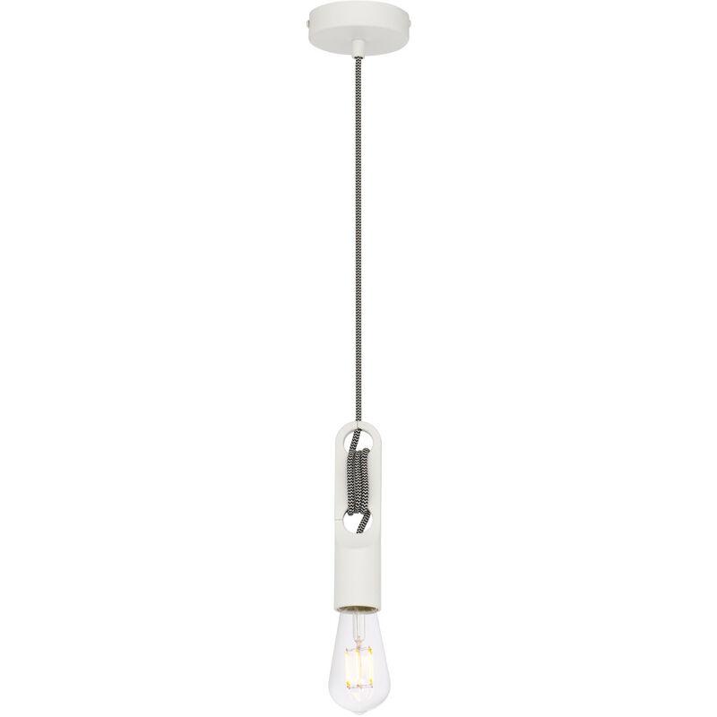 Lampada Clip Bianco Acciaio - Sklum