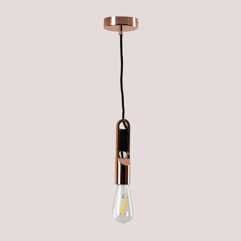 Lampada Clip Metallizzata Acciaio Oro Rosa - Sklum