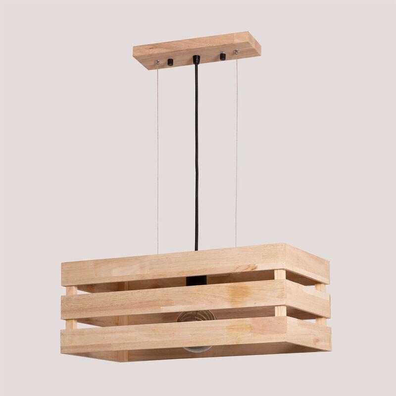 Lampada da soffitto in legno Kaixa Legno Legno Naturale - Sklum