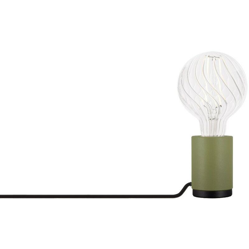 Lampada Jasp Verde Kaki Acciaio - Sklum