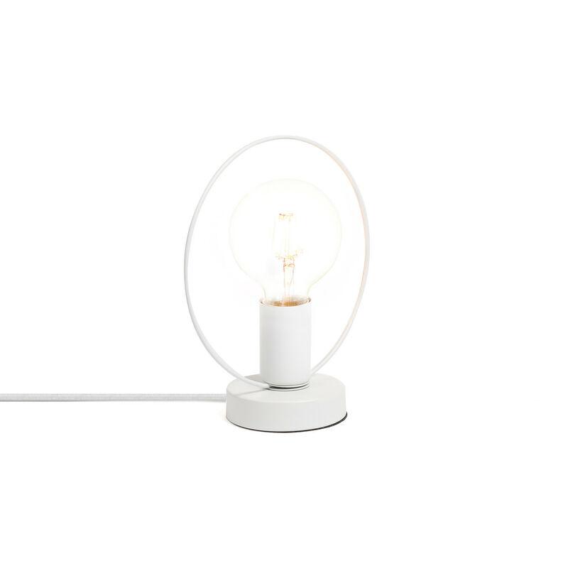 Lampada Kurl Bianco Acciaio - Sklum