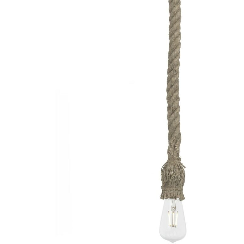 Lampada Mars Aluminio / Lino Oro vecchio - Sklum