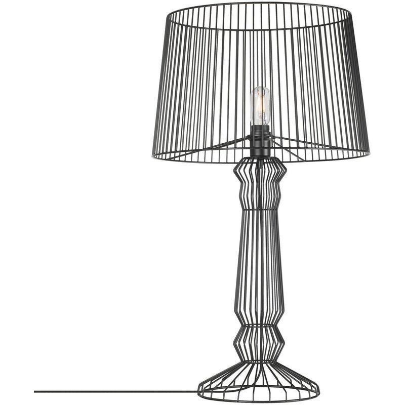 Lampada Xiun L Nero Lega di ferro - Sklum