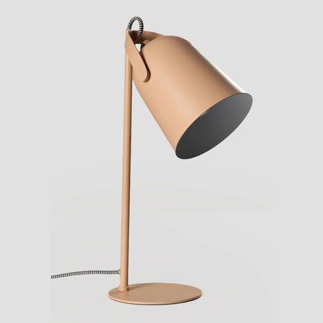 SKLUM Lámpara de Mesa Môma Acero - Marrón Avellana