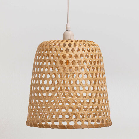 SKLUM Lámpara de Techo en Ratán (Ø30 cm) Kalde Ratán Marrón Natural - Marrón Natural