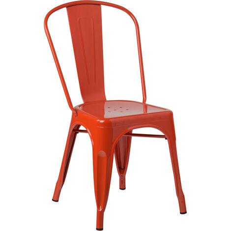 SKLUM  Lot de 4 Chaises LIX Orange  Acier                               - Orange