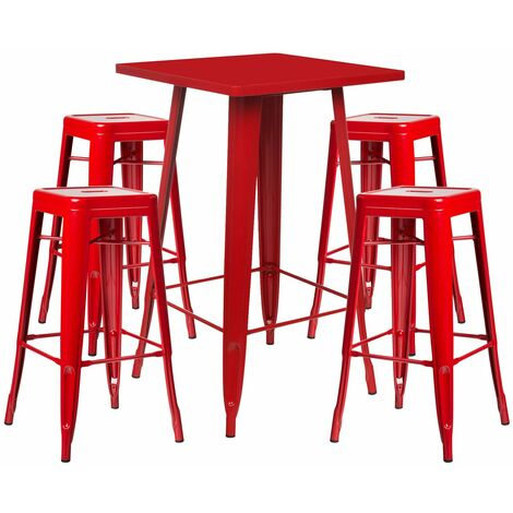SKLUM Lot de Table Haute LIX & 4 Tabourets Hauts LIX