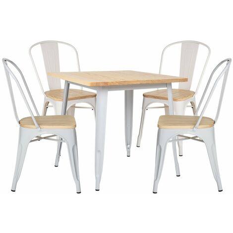 SKLUM Lot de Table LIX Bois (80x80) & 4 Chaises LIX Bois