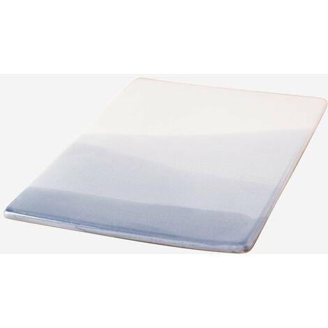 SKLUM Pack de 4 Platos Rectangulares (21x13 cm) Mar Porcelana Celeste - Azul Marino - Celeste - Azul Marino