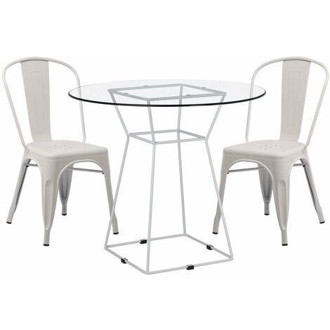 SKLUM Pack Table Agda & 2 chaises LIX