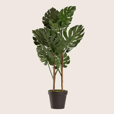 SKLUM Planta Artificial Monstera Plástico - Verde Oscuro