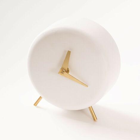 SKLUM Reloj de Mesa en Cemento Clok Cemento Celadón - Celadón