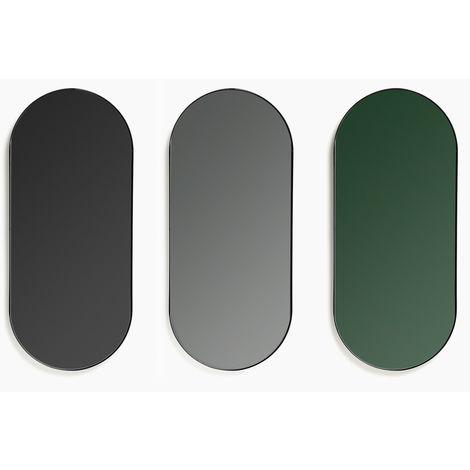 SKLUM Set de 3 Espejos Ovalados 69,5 cm Jois Hierro Negro